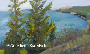 sleeping bear dunes empire bluff trail painting