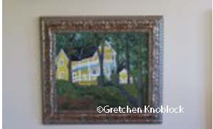 Bayview Association Cottage painting near Petosky
