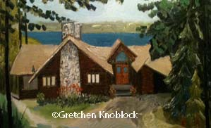 Torch Lake cottage painting