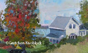 Traverse City Cottage painting